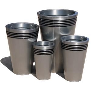 Wholesale metal pot stand: Garden Pots Zinc Planters Metal Outdoor Galvanized Steel Wholesale Large Plant Flower Pottery