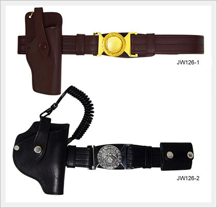 Military Army Police Belt Leather Gun Holster Belt(id