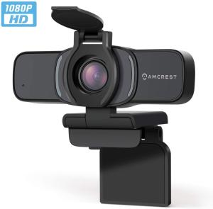 Wholesale web: Amcrest 1080P Webcam with Microphone & Privacy Cover, Web Cam USB Camera, Computer HD Streaming Webc
