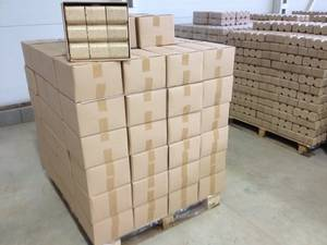 Wholesale sealed plastic packaging: 100% Ruf Briquettes