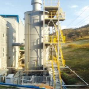Wholesale waste oil treatment: Multi-stage Wet Scrubber