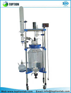 Wholesale continuous stirred glass reactor: Double Layer Glass Reactor