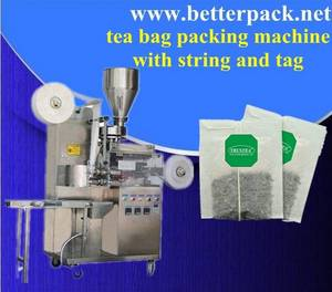 Wholesale ginseng beverage: Automatic Tea Bags Packing Machine with String and Tag
