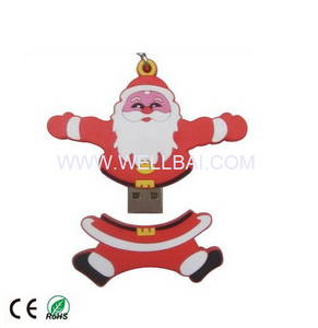 Wholesale usb stick: Santa USB Memry Stick for the Christmas Gift