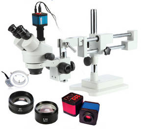 Wholesale industry microscope: 14MP HDMI Industry Microscope with Camera 3.5X-90X! Trinocular Microscope