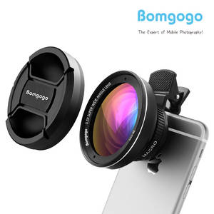Wholesale x: Bomgogo Govision L3 0.5X Wide Angle Lens + 15X Macro Mobile Camera Lens