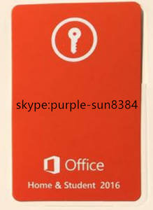 Wholesale 2016 key card: Office 2016 Home and Student Key Card OEM Key Retail Key Fpp Key Coa 2016 HS