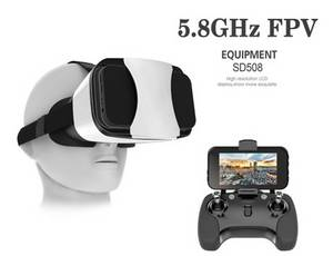Wholesale equipment fpv: C-Fly 5.8g 5'' TFT LCD Vr Goggles for Drone