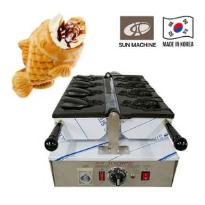 Wholesale yogurt machine: Taiyaki Open Mouth Machine, Korea Ice Bungeoppang Machine, Electric Fish-Shaped Baking Machine