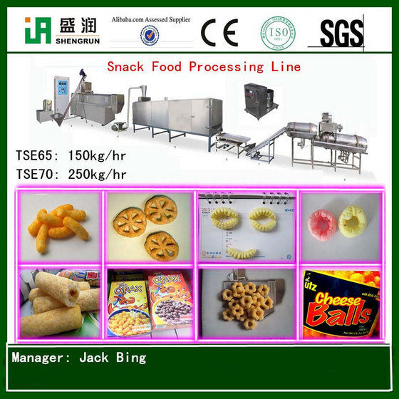 Puffed Corn Snacks Food Machine Production Line