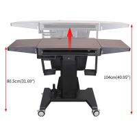 Electric Height Adjustable / Audio Visual System /Computer Desk with 24inch 5
