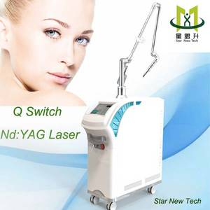 Wholesale pigment removal: Nd YAG Laser Q Switch 1064 & 532 Nm Pigment and Tattoo Removal Machine