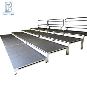Wholesale multi function: Outdoor Multi Function Portable Bleachers Aluminum Choir Wood Stage Platform Grandstands