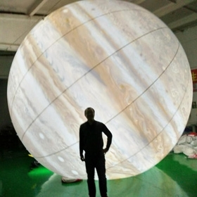 Wholesale the light: Eight Planets Balloon Floating in the Air for Big Event Inflatable LED Light Balloon Jupiter