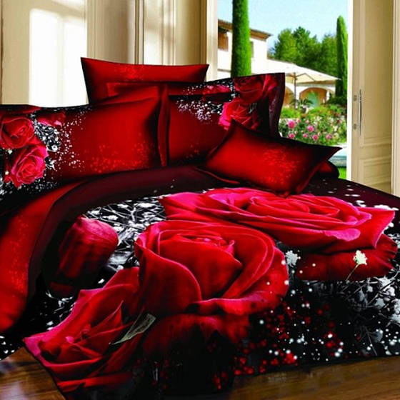 shower curtain: Sell Comforter sets high quality luxury king size 3d bedding set