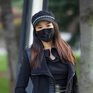 Wholesale anti dust mask: Disposable Non Woven Black Face Mask