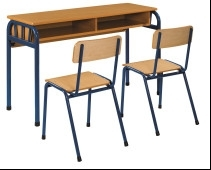Wholesale diamond chair: Metal School Furniture Double Student Desk Chairs