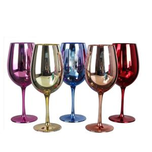 Wholesale cobalt: Black Stem Wine Glasses Cobalt Blue Wine Glasses Red Colored Wine Glasses - BMGLASS