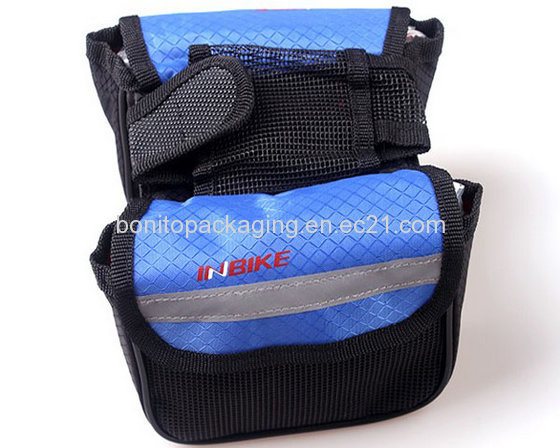 Our-door Sports Riding  600D Polyester Bicycle Bag,Bike Front Shopper Bag,Frame Bags Double