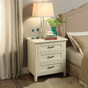 Wholesale night table: 3 Drawers Bedside Table Wood Night Stand