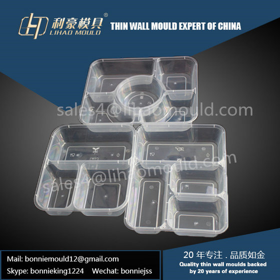 Multi-compartment Plastic Thin Wall Lunch Box Mould Supplier
