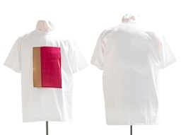 Wholesale summer used clothes: White Round Cotton T-shirt with Ramie