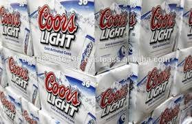Wholesale lighting: Coors Light Beer 355ml Bottle and Can