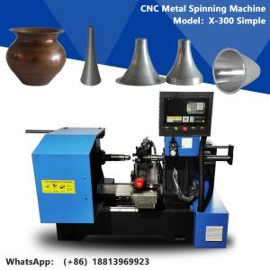Wholesale spinning manufacturing process: CNC Manual Mini Metal Spinning Processing Machine for Sliver Gold Copper Metal