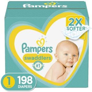 Wholesale disposable diaper: Pampers Swaddlers Disposable Baby Diapers Newborn/Size 1 (8-14 Lb), 198 Count