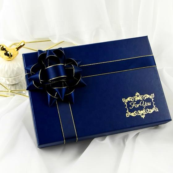 Glamour Blue Fine Printed Cardboard Empty Luxury Shoe Box Packaging