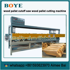 Wholesale cut off machine: Wood Pallet Table End Trim Saw Cut Off Sizing Machine
