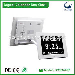 Wholesale Clocks: 2016 Best Seller 8 Digital Calendar Day Clock with Non-Abbreviated Day & Month for Dementia Elderly