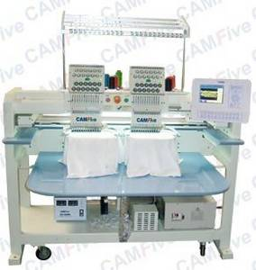 Wholesale table covers: CAMFive Commercial Embroidery Machine 02 Head 12 Color
