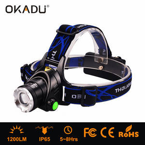 Wholesale LED Headlamps: OKADU HT02 1200Lm Focusable LED Head Lamp 18650 / AA Battery Cap Lamp 1 Cree XM-L2 T6 LED Headlamp
