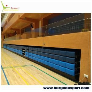 Wholesale curtain tracks: Elevated Retractable Grandstands / Telescopic Sport Stadium Seats