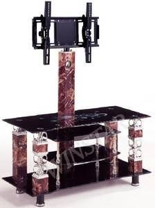 Wholesale TV Stands: TV Stand,Made of Tempered Glass and Stainless Tube (WS793)