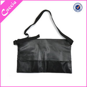 Wholesale makeup brushes: Professional PVC Leather Cosmetic Makeup Brush Apron Bag