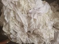 Used White T Shirt Wiping Cotton Rags
