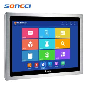 Wholesale all in one computer: 18.5 Inch Intel Core I5 Industrial Capacitive Widescreen Computer All in One Computer Panel PC