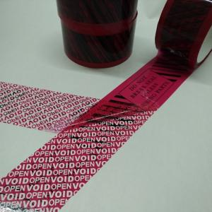 Wholesale pet release film: Tamper Proof VOID Tape with Company Logo