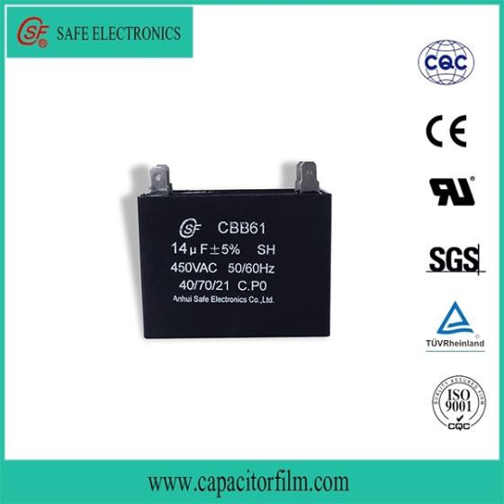 Motor Run Capacitor CBB61 Sh P0 C3 50/60hz 40/70/21
