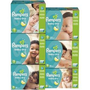Wholesale baby diaper huggies: Pampers Baby Dry Diapers Economy Pack Plus Size 1 to size 6