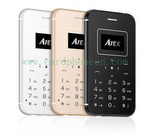 Wholesale sim card holder: AIEK Card Phone X8 Mini Phone