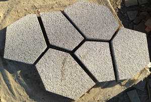 Wholesale stone cnc water jet: Cracked Ice Paver Made by Rust Stone