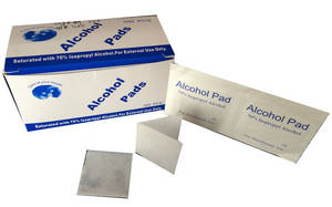Wholesale sterilization: Sterile Alcohol Pre Pads, Medium 1.18''X2.36'' / 3cmx6cm