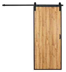 Wholesale Doors: 36in Pre-finished Vertical Multi Plank Design  Wood Grain Door with Natural  Pine Finish