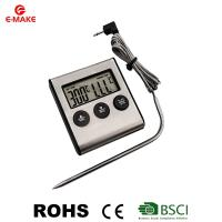 Digital Kitchen Thermometer Oven Food Cooking Meat BBQ Probe Thermometer with Timer