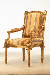 Wholesale backrest: Louis XVI Rectangular Backrest Armchair