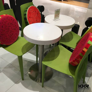 Wholesale solid surface: Restaurant Dining Table, Acrylic Solid Surface Table Tops, Artificial Stone Tables and Chairs