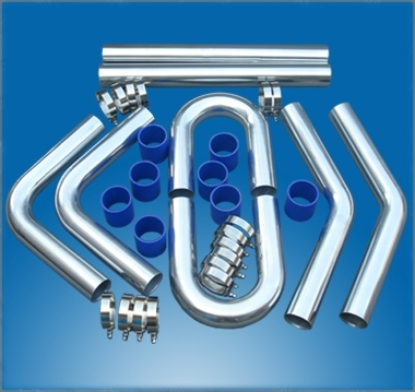 Sell Universal Intercooler Pipe Aluminum Piping+T Clamp+Silicone Hose